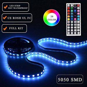 Simfonio Ruban Led 5m - Bande Led 5M 300 LEDs 5050 SMD RGB Ruban à LED avec Telecommande Infrarouge 44 Touches et Alimentation 5A 12V de la marque Simfonio image 0 produit