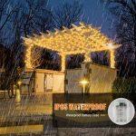 SJLED 39ft120 LED Guirlande Lumineuse 8 modes Fonction Minuterie avec Télécommande IP65 étanche, blanc chaud Fée Lumières Blanc Chaud + RVB Coloré Luciole Lumières pour La Maison De Noël Arbre Décor de la marque SJLED image 3 produit