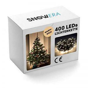 SnowEra - Guirlande lumineuse / Illumination de Noël - 400 LED pour l'intérieur et l'extérieur - Minuteur commutable – Idéale pour décorer Sapin de Noël – Couleur LED: blanc chaud – Longueur: env. 50 m câble inclus de la marque SnowEra image 0 produit