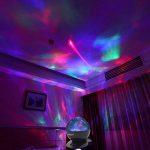 SOAIY Lampe d'Ambiance LED Multicolore Lampe de Nuit avec Projection 4 Minuteries & 3 Niveaux de Luminosité avec Télécommande - Noire de la marque SOAIY image 2 produit
