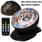 SOAIY Lampe d'Ambiance LED Multicolore Lampe de Nuit avec Projection 4 Minuteries & 3 Niveaux de Luminosité avec Télécommande - Noire de la marque SOAIY image 4 produit