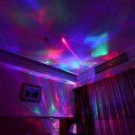 SOAIY Lampe d'Ambiance LED Multicolore Lampe de Nuit de Projection avec Sons Naturel & Minuteries & Luminosité Réglable & Bluetooth avec Télécommande - Noire de la marque SOAIY image 3 produit