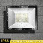 SOLLA Projecteur LED 100W, IP66 Imperméable, 8000LM, Eclairage Extérieur LED, Equivalent à Ampoule Halogène 550W, 6000K Lumière Blanche du Jour, Eclairage de Sécurité de la marque SOLLA image 2 produit