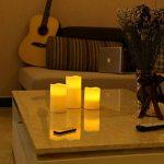 SONGMICS Lot de 3 Bougies à LED avec lumière Jaune avec la télécommande minuteur à Pile GLC75D de la marque SONGMICS image 1 produit