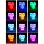 SONGMICS Lot de 3 Bougies à LED avec lumière Multicolore avec la télécommande minuteur à Pile GLC75C de la marque SONGMICS image 1 produit