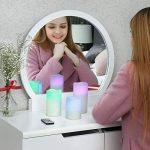 SONGMICS Lot de 3 Bougies à LED avec lumière Multicolore avec la télécommande minuteur à Pile GLC75C de la marque SONGMICS image 2 produit