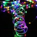 Splink LED Guirlande Lumineuse Exterieur Noël Tube 10m 100 LEDs Lumière Multicolore Imperméable IP67 8 Mode Dimmable Décoration Jardin Ambiance de Soirée Bal de la marque Splink image 4 produit