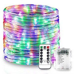Splink LED Guirlande Lumineuse Exterieur Noël Tube 10m 100 LEDs Lumière Multicolore Imperméable IP67 8 Mode Dimmable Décoration Jardin Ambiance de Soirée Bal de la marque Splink image 0 produit