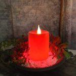 Star Bougie LED en cire véritable avec minuterie intégrée Fonctionnement à piles Rouge 12x8cm de la marque Star image 2 produit