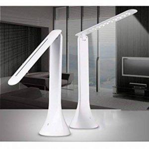 Stoog Lampe de table 18 LED, Lampe de lecture Lampe de bureau Flexible, 3 Mode de Luminosité Régleable par Contrôleur Interrupteur Tactile, Bras extensible 180 degré, meilleur soins des yeux 1.8W - Blanc de la marque Stoog image 0 produit