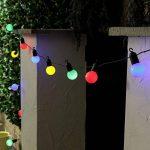 SUAVER 20ft Batterie Guirlande Lumineuse 20LED Boules Lumière Rétro Guirlande Guinguette Ampoules Lampes Cordes pour Décor Chambre Mur Terrasse Mariage Bistrot Salon Intérieur, Décoration de Parti (Multicolore) de la marque SUAVER image 4 produit