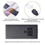 Sunix Kit de Ruban LED RGB 2M 5050 SMD 60 LEDs, Adapteur Flexible Strip Light + télécommande à Infrarouge 44 Touches + Alimentation 2A 12V de la marque Sunix image 2 produit