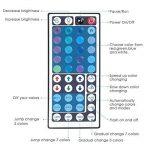 Sunix Kit de Ruban LED RGB 2M 5050 SMD 60 LEDs, Adapteur Flexible Strip Light + télécommande à Infrarouge 44 Touches + Alimentation 2A 12V de la marque Sunix image 4 produit