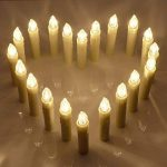 SunJas Guirlande Lumineuse de Noël 30 Bougies LED Blanc Chaud à Pince pour Sapin arbre de Noël avec télécommande sans fil chandelles LED de la marque Sunjas image 2 produit