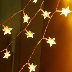 Sunnest Guirlandes Lumineuse LED - Guirlande Guinguette Etanche Chaine de lampes étoilé - Blanche Chaude 5 mètres 40 ampoules de la marque Sunnest image 0 produit