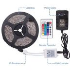 Sunnest Ruban LED 3528 RGB Etanche 5M Strip Light Multicolore 300 LED Télécommande Infrarouge 24 Touches + Adapteur + Alimentation 2A 12V de la marque Sunnest image 3 produit