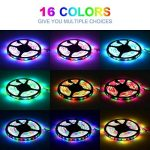 Sunnest Ruban LED 3528 RGB Etanche 5M Strip Light Multicolore 300 LED Télécommande Infrarouge 24 Touches + Adapteur + Alimentation 2A 12V de la marque Sunnest image 4 produit