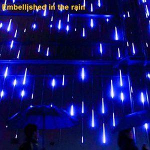 Sunnymi LED Meteor Douche lumières, étanche Lampes solaires de gouttes d'eau Décoration de jardin Guirlande lumineuse pour fête de mariage Sapin de Noël Patio Décoration de la marque sunnymi image 0 produit