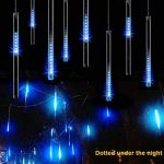 Sunnymi LED Meteor Douche lumières, étanche Lampes solaires de gouttes d'eau Décoration de jardin Guirlande lumineuse pour fête de mariage Sapin de Noël Patio Décoration de la marque sunnymi image 1 produit