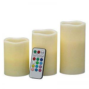 Symboat 3pcs Flameless LED bougies scintillantes couleur bougie changeante piles fonctionnent avec télécommande de la marque Symboat image 0 produit