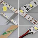 Tailcas® 5 Mètres 12V DC 5630 300 LEDs Super-Lumineux Ruban à LED Bande, Flexible Light Strip LED / Barre Lumineuse, Idéal pour l'Intérieur / Extérieure Décoration - (Étanche, Blanc Froid) de la marque Tailcas image 3 produit