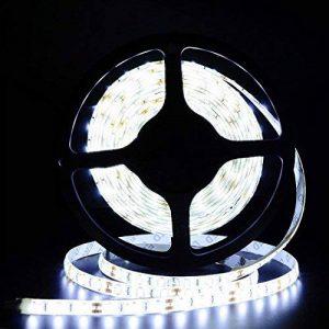Tailcas® 5 Mètres 12V DC 5630 300 LEDs Super-Lumineux Ruban à LED Bande, Flexible Light Strip LED / Barre Lumineuse, Idéal pour l'Intérieur / Extérieure Décoration - (Étanche, Blanc Froid) de la marque Tailcas image 0 produit