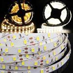 Tailcas® 5 Mètres 12V DC 5630 300 LEDs Super-Lumineux Ruban à LED Bande, Flexible Light Strip LED / Barre Lumineuse, Idéal pour l'Intérieur / Extérieure Décoration - (Étanche, Blanc Froid) de la marque Tailcas image 2 produit
