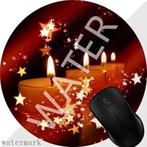 Tapis de Souris Gaming Mousepad Bougies de l'Avent Ambiance de Noël Romantique Base en Caoutchouc Antidérapant Surface Spéciale Texturée résistant à Usure 1M1638 de la marque POGJY image 0 produit