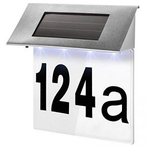 TecTake Numéro de maison énergie solaire en acier inox 4 led lumineux extérieur éclairage de la marque TecTake image 0 produit
