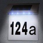 TecTake Numéro de maison énergie solaire en acier inox 4 led lumineux extérieur éclairage de la marque TecTake image 1 produit