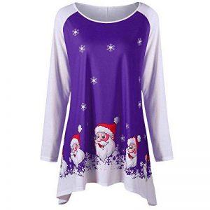 Tefamore Mode féminine Joyeux Noël O-Cou à Manches Longues Sourire Père Noël Imprimer Haut de la marque Tefamore Pull Tops Nr.1 image 0 produit