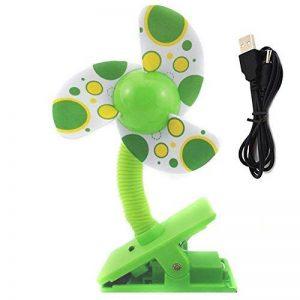 TININNA Mini Clip USB Ventilateur Portable à Pince 360 Degrés de Rotation Poussette Lits Sécurité Fan Pour Bébé Enfants Vert de la marque TININNA image 0 produit