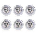 Tinksky Poussoir 3-LED Lampe Batterie Moteur Clic, Pack de 6 (lumière Blanche) de la marque Tinksky image 4 produit