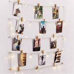 [Télécommande & Minuteur] RECESKY Photo Clip Lampes à cordes - 40 LED 8.5m Guirlandes de la batterie, Décor de cadres photo - Pour l'intérieur, maison, Noël, mariage, chambre à coucher de la marque RECESKY image 1 produit