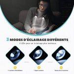 TOPELEK 4 LED Lampe de Lecture de Cou Rechargeable Flexible Mains Libres avec 3 Niveaux de Luminosité Réglable Câble USB Inclus Lampe de Nuit pour Livre, Lecture, Sport, Course, Activités Extérieures Dans La Nuit de la marque TOPELEK image 2 produit