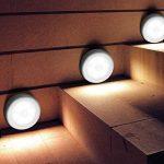 Topist Lampe Détecteur de Mouvement, 3Pack 6LED Detecteur Mouvement pour Walkway/Penderie/Escalier/Étagère/Cuisine, 3AAA Alimenté par batterie (non Inclus) - Ruban Adhésif 3M et Aimant de la marque IWILCS image 1 produit