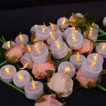 Topstone Lot de 24 lumières LED bougies à piles avec télécommande Bougies sans flamme vacillante avec 4 h, 6 h, 8 h Minuteur, pour mariage, anniversaire, fête de Noël de la marque Topstone image 3 produit