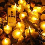 Topstone sans flamme Thé lumières avec minuteur et télécommande, alimentation par batterie LED bougies, Bougie électrique Faux avec lumineux et lumière vacillante Jaune ampoule, Lot de 12, idéal pour les fêtes, festivals et décoration de maison fêtes de l image 3 produit