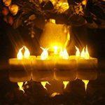 Topstone sans flamme Thé lumières avec minuteur et télécommande, alimentation par batterie LED bougies, Bougie électrique Faux avec lumineux et lumière vacillante Jaune ampoule, Lot de 12, idéal pour les fêtes, festivals et décoration de maison fêtes de l image 4 produit