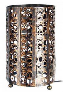 Tosel 63105 Lampe Zen Tôle perforée 60 W E27 Marron/Or de la marque Tosel image 0 produit