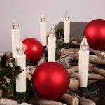 TRESKO® Lot de 20 Bougies LED de Noël sans flamme Eclairage aux bougies pour intérieur et extérieur sans fil imperméable IP46 Télécommande Mise hors circuit automatique gradable Guirlande lumineuse de la marque TRESKO image 3 produit