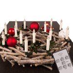 TRESKO® Lot de 20 Bougies LED de Noël sans flamme Eclairage aux bougies pour intérieur et extérieur sans fil imperméable IP46 Télécommande Mise hors circuit automatique gradable Guirlande lumineuse de la marque TRESKO image 4 produit