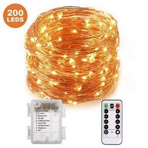 TryLight Guirlande Lumineuse 20M 200 LEDs, LED Etanche à Piles Extérieur/Intérieur, 8 modes, Fonction Minuterie, Décoration Maison, Fêtes, Mariages de la marque TryLight image 0 produit
