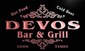 u11299-r DEVOS Family Name Gift Bar & Grill Home Beer Neon Light Sign Enseigne Lumineuse de la marque ADV PRO image 0 produit