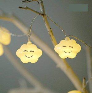 Uchic 1.5m 10led Creative LED batterie Smile Cloud Night Lights mignon LED Guirlande lumineuse Lampes pour chambre bébé fête Vacances Décor lumière blanc chaud de la marque UChic image 0 produit