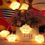 Uchic 1.5m 10led Creative LED batterie Smile Cloud Night Lights mignon LED Guirlande lumineuse Lampes pour chambre bébé fête Vacances Décor lumière blanc chaud de la marque UChic image 1 produit