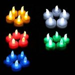 Uhat® Lot de 24bougies chauffe-plat sans flamme Bougies à changement de couleur LED multicolores lumière pour fête, fête, cadeau, Saint Valentin de la marque Uhat® image 2 produit