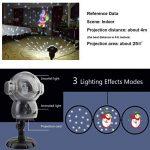UKEER Projecteur Noel LED exterieur, Musique + Neige+8 Animés Projecteur de Chute de Neige avec éclairage de Jardin Décoratif à Télécommande, fête de noël Intérieur et Extérieur de la marque UKEER image 2 produit