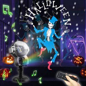 UKEER Projecteur Noel LED exterieur, Musique + Neige+8 Animés Projecteur de Chute de Neige avec éclairage de Jardin Décoratif à Télécommande, fête de noël Intérieur et Extérieur de la marque UKEER image 0 produit