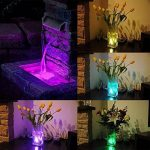 Ulako 10 LED Lumière Waterproof pour Vases imperméable Multi couleur Colorful RVB Submersible Sous-marine durable Pratique ampoule pour maison ou mariage soiree Télécommande de la marque Ulako image 1 produit